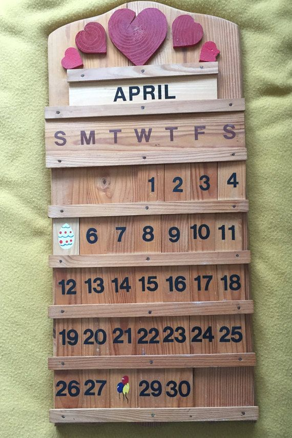 33 Best Calendars Images On Pinterest | Perpetual Calendar, Wooden