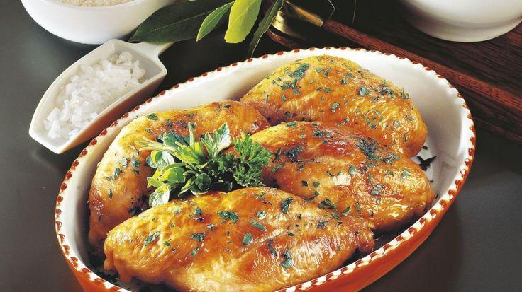 Coxas de frango recheadas