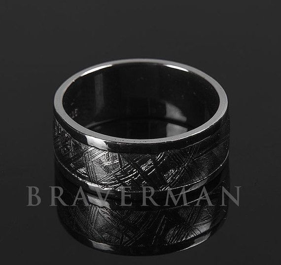 Hey, I found this really awesome Etsy listing at https://www.etsy.com/listing/229524775/sterling-silver-meteorite-band-meteorite