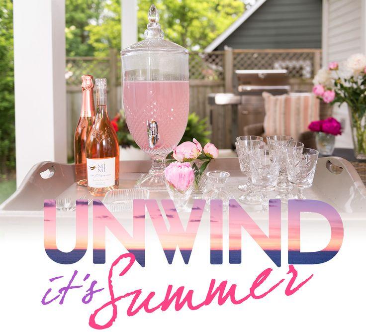 Unwind it's Summer - Venue & Menu