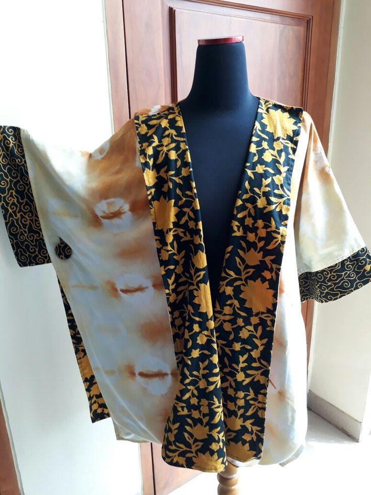 Shibori+batik kimono