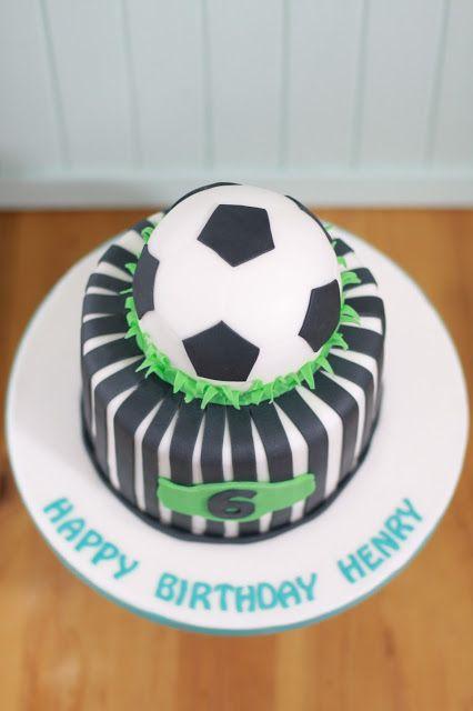 Feines Handwerk, Fußballtorte, Jungstorte, Fußball Party, Soccer Cake