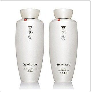 Korean cosmetic, Amore Pacific Sulhwasoo Snowise balancing water 100ml+ Balancing Fluid 100ml Set + FREE GIFT(Mask Pack sheet and 2 other items) by Sulhwasoo. $165.00. Item location : Korea and we ship to worldwide.. In case of South American region including Brazil, Mexico, Italy, Peru, Argentina, Chile,Venuela, etc, We only ship thru the expedited shipping service. So, plesae choose the expedited shipping service if you are located in those region and purchase t...