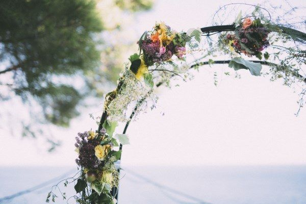 Flower Arch Rustic Outdoor Croatia Destination Wedding https://www.facebook.com/LiliZanetaPhotography https://www.facebook.com/AnteaMrcelaPhotography