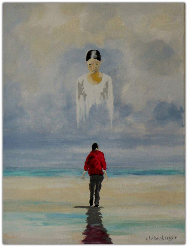 Acryl/Leinwand 30 cm x 40 cm x 1,5 cm Preis 240,- €  The other side Verkauft