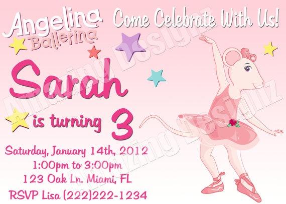 45 best Angelina Ballerina Birthday cake images – Angelina Ballerina Birthday Invitations