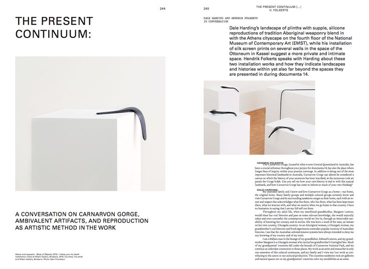 Hendirk Folkerts Dale Harding The Present Continuum  Mousse 58 Learning from Athens. An issue about documenta 14