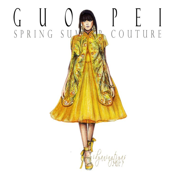 Guo Pei Spring Summer Couture illustration by swidyaningtiyas