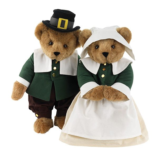 "15"" Pilgrim Bears- Thanksgiving Tradition @Vermont Teddy Bear #madeintheusa"