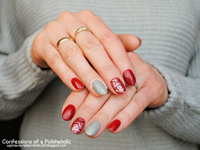 Confessions of a Polishaholic: Elegant with Orly GelFX Forever Crimson & Mirroball