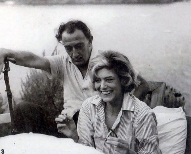 Melina Mercouri and Salvador Dali