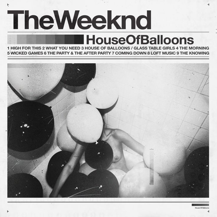 The Weekend 'House Of Balloons' Cover Art