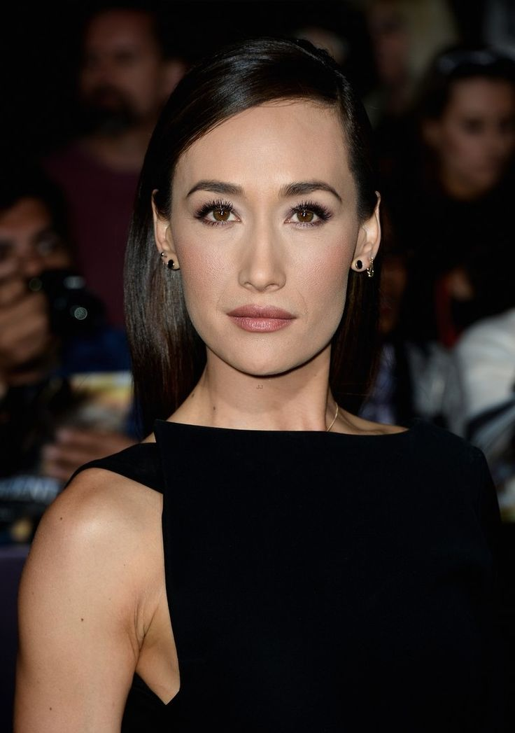 "Maggie Q Skips Underwear for ""Divergent"" LA Premiere 