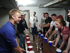 For adults- Flip Cup Game   Directions via Wikipedia. LOL!