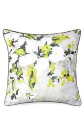Green Smudge Floral Print Cushion bhs