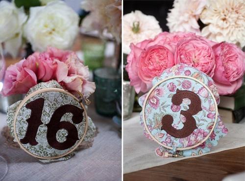 Bastidores de bordados para decorar la boda
