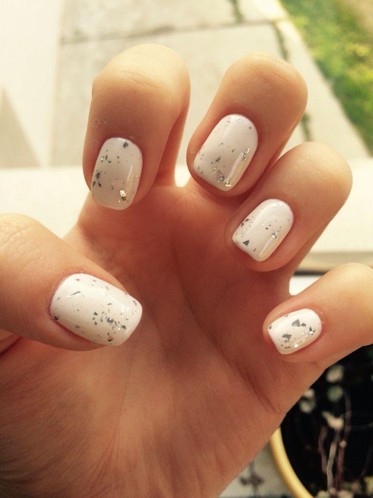 #white#nails#nailart