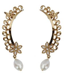 Buy Fashionable Ear cuffs With A Pearl Drop danglers-drop online
