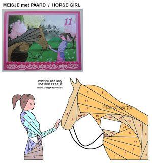Irisvouwen: Horse Girl / Meisje met paard