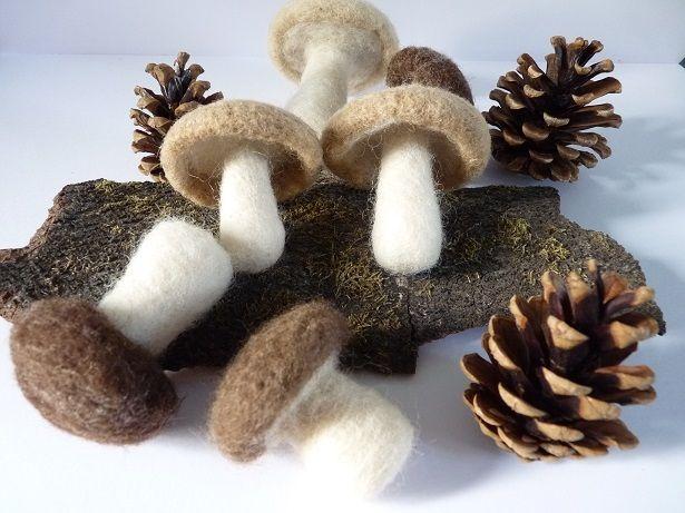 Champi-champignons en laine feutrée