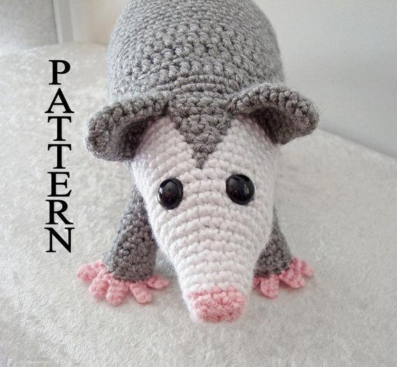 Possum pattern--so cute!: $5Crochet Projects, Crochet Animal, Pattern Amigurumi, Crochet Amigurumi, Amigurumi Adobe, Crochet Patterns, Opossum Possum, Amigurumi Critter, Adobe Pdf