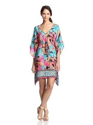 55% OFF Tolani Women's Kanika Dress (Turquoise/Fuchsia)