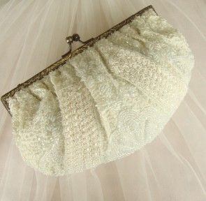 £58 Beaded Bridal Clutch by Noly Fuentes FREE DELIVERY