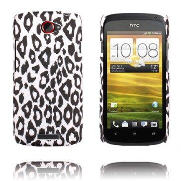 Leopard Fashion (Vit) HTC One S-Skal