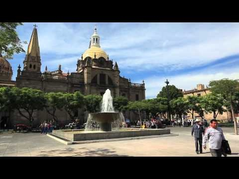 Main cathedral. Guadalajara, Mexico. ArmchairTourist.com video