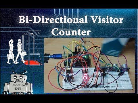 Arduino Tutorial 32# How to make Bi-Directional Visitor Counter - Robotica DIY