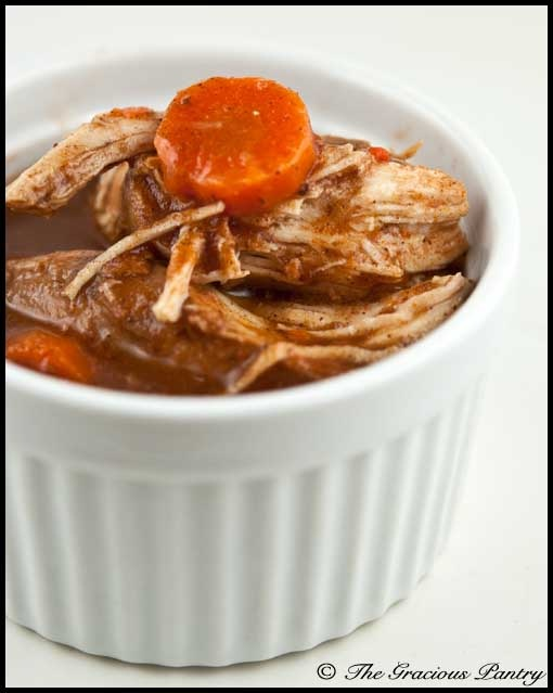 Clean Eating Slow Cooker Cinnamon Chicken  www.TheGraciousPantry.com