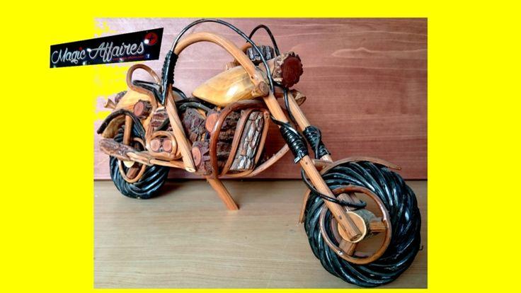 Maquette moto en bois Harley Davidson 50 cm NEUF - MAISON MOBILIER BRICOLAGE EQUIPEMENT/COLLECTION - magic-affaires-22