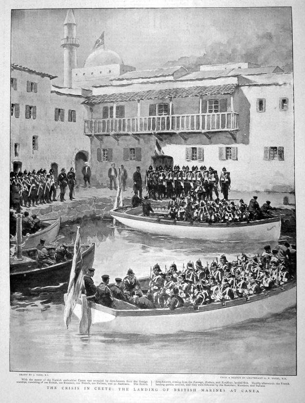 British marines landing in Canea. February 1897.