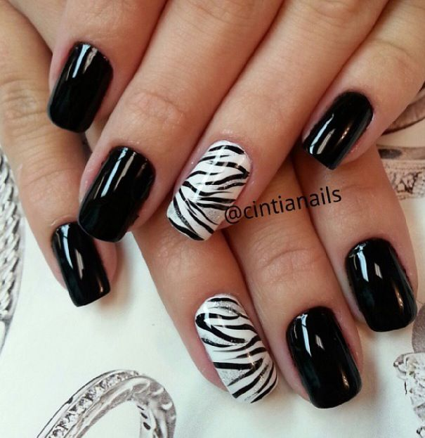- Black And White Zebra Nail Naιlѕ Nails, Nail Art, Nail Art Designs