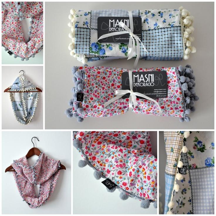 Masni Dekoráció: pompom sálak / pompom scarf