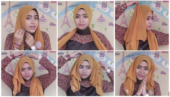 5. Tutorial Hijab Modern 2014