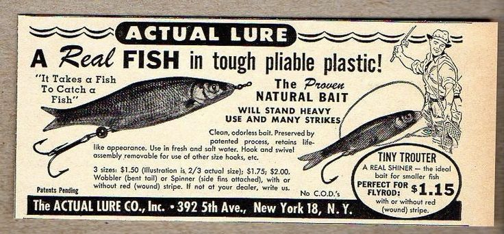 17 best images about vintage fishing lure ads on pinterest for Fishing in cincinnati