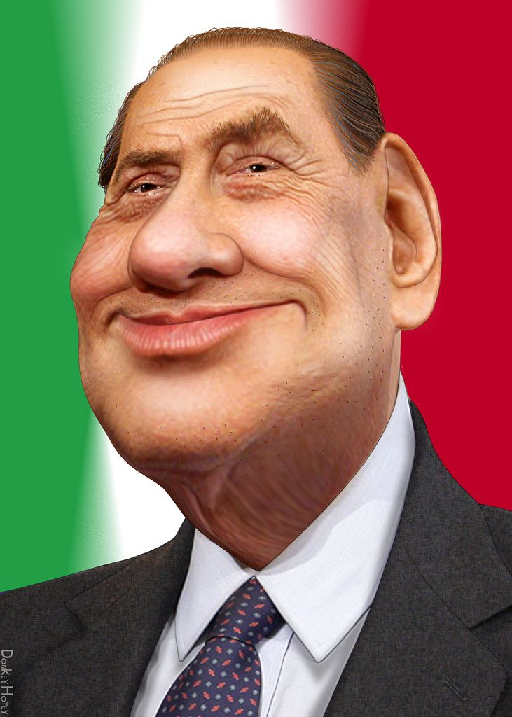 https://flic.kr/p/9JZR5k | Silvio Berlusconi - Caricature | Saint Silvio Berlusconi, aka Silvio Berlusconi, is the Prime Minister of Italy and businessman. Berlusconi officially resigned as Prime Minister on 13 November 2011.  The source image for this caricature of Silvio Berlusconi is en.wikipedia.org/wiki/File:Silvio_Berlusconi_(2010).jpg. The copyright holder of the original image allows anyone to use it for any purpose including unrestricted redistribution, commercial use, and…