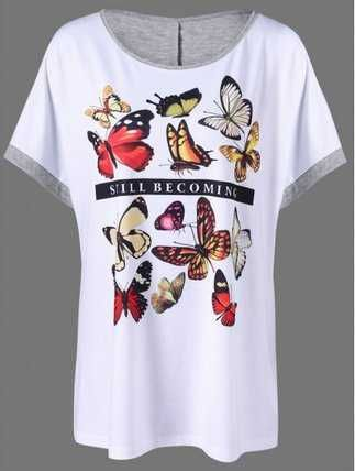 Camisetas De impresion Mariposa Butterfly T-Shirts  Caracteristicas Del Producto: - Material: Polyester,Spandex - Clothing Length: Long - Sleeve Lengt