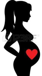 Resultado de imagen para dibujo silueta mujer embarazada