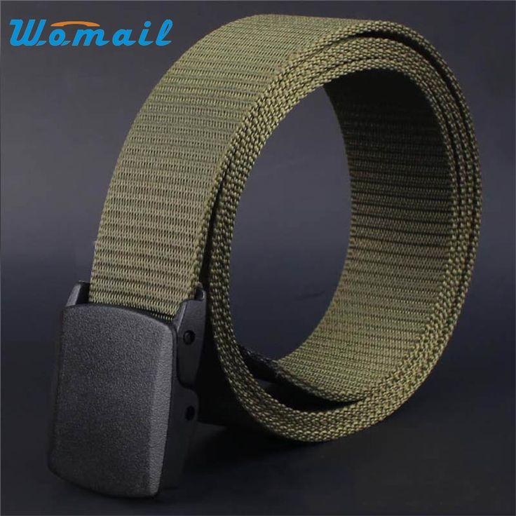 Hot New arrival men canvas belts designer belt men high quality tactical strap casual waistband male Hot Dropship
