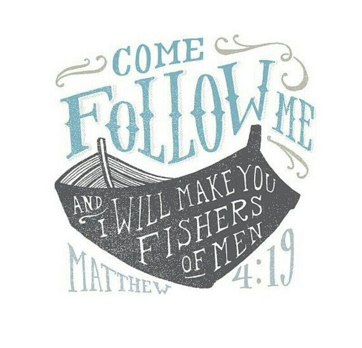Come follow me and I will make you fishers of men! ~Matthew 4:19 | #jesus #fishing #salvation