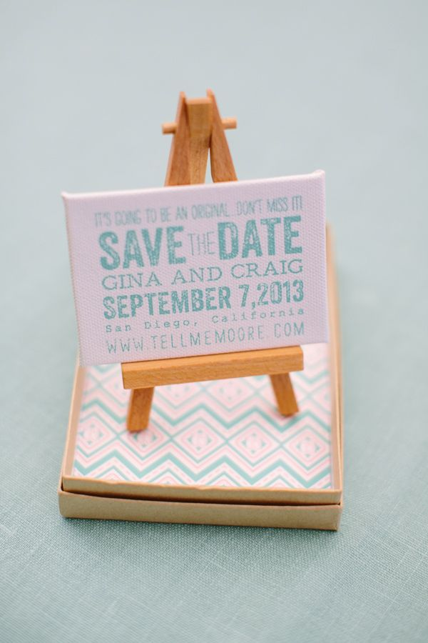 Easel save-the-date. The Invitation Factory.