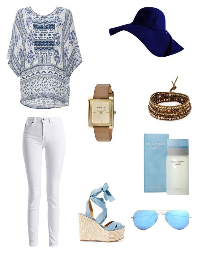 Sin título #10 by sil-mena on Polyvore featuring polyvore, fashion, style, DailyLook, Barbour International, Ralph Lauren, Anne Klein, Chan Luu, Ray-Ban, Dolce&Gabbana and clothing