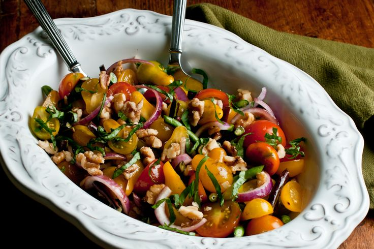 Can't wait for summer: Hearty Heirloom Tomato Salad