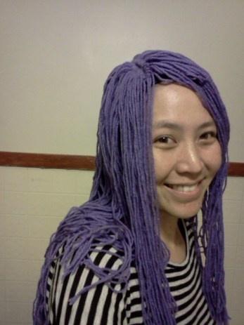 Make a yarn wig.