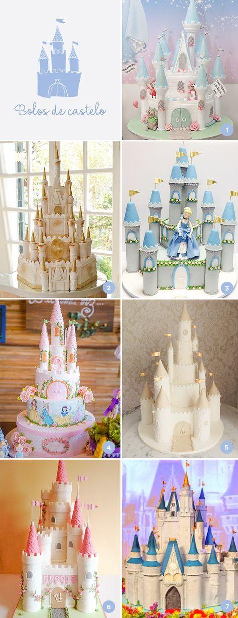 The King Cake, Piece of Cake e Homemade Cakes são algumas das empresas com bolos de castelo para o aniversário das princesas