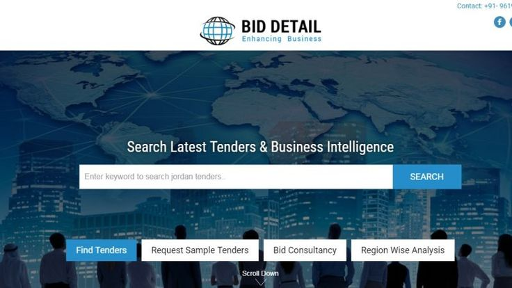 Visit Bid Detail & get all the updated news regarding Jordan tenders online.Tender Value, closing date & all the other details available here.