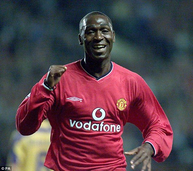 Andy Cole ended his successful time with Manchester United in December 2001