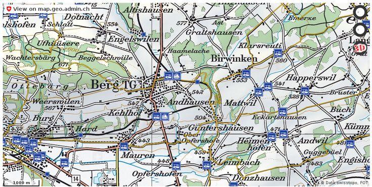 Berg (TG) Wanderwege Karte trail http://ift.tt/2rNiSJy #infographic #schweiz